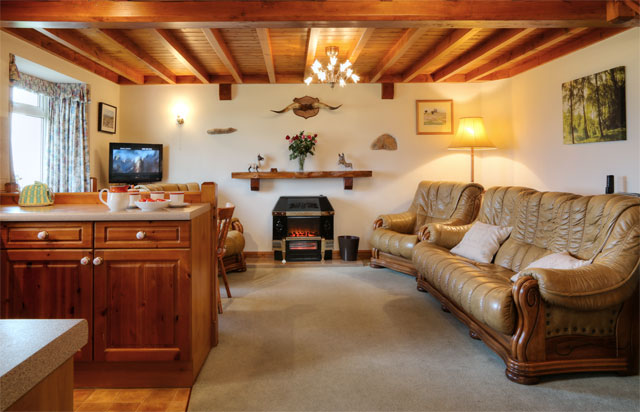 Open plan downstairs area - Spring Bank Cottage