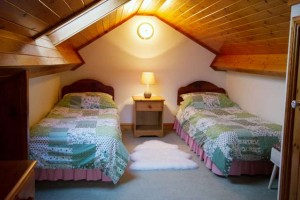 Twin bedded loft bedroom